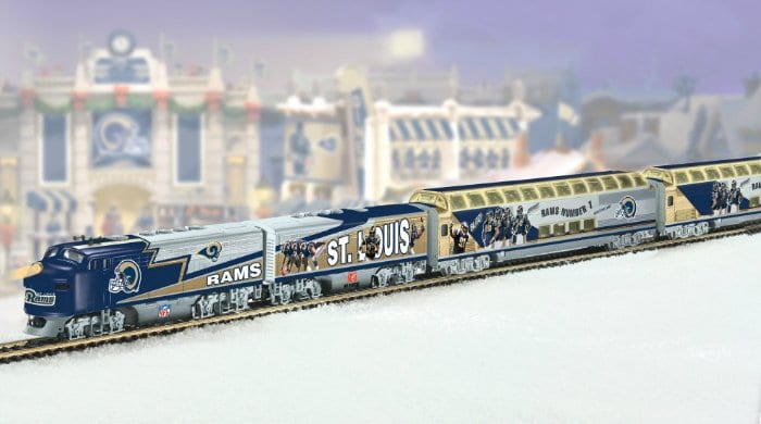 A real train may not go directly to the new Inglewood football stadium, but you can buy this toy train by clicking above.