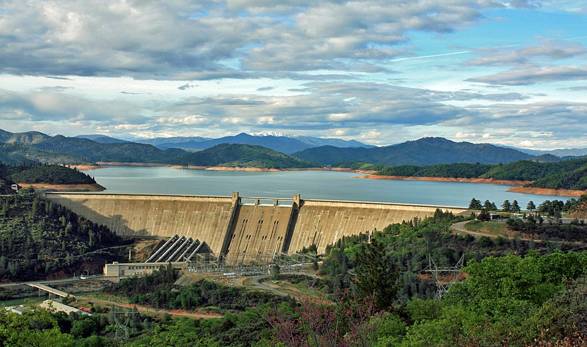 Raising Shasta Dam has long been sought by agricultural interests. Photo: Wikimedia.