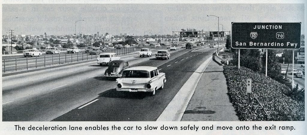 The 5 freeway in 1967, perhaps happier and definitely smoggier times. Photo: Eric Fischer, via Flickr creative commons.