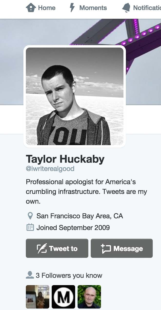 Taylor earned praise for his deft handling of BART's Twitter feed.
