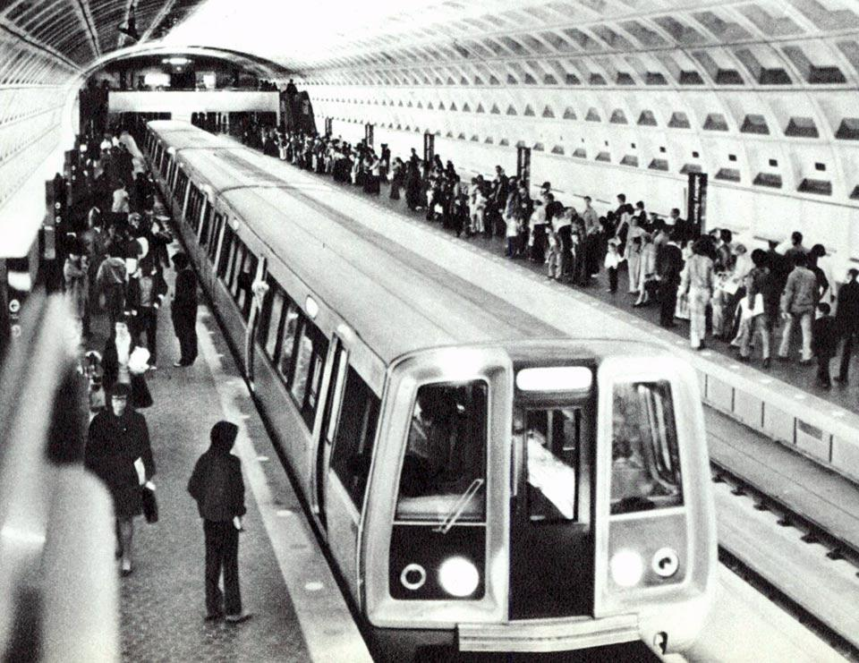 The Washington Metro in 1976.