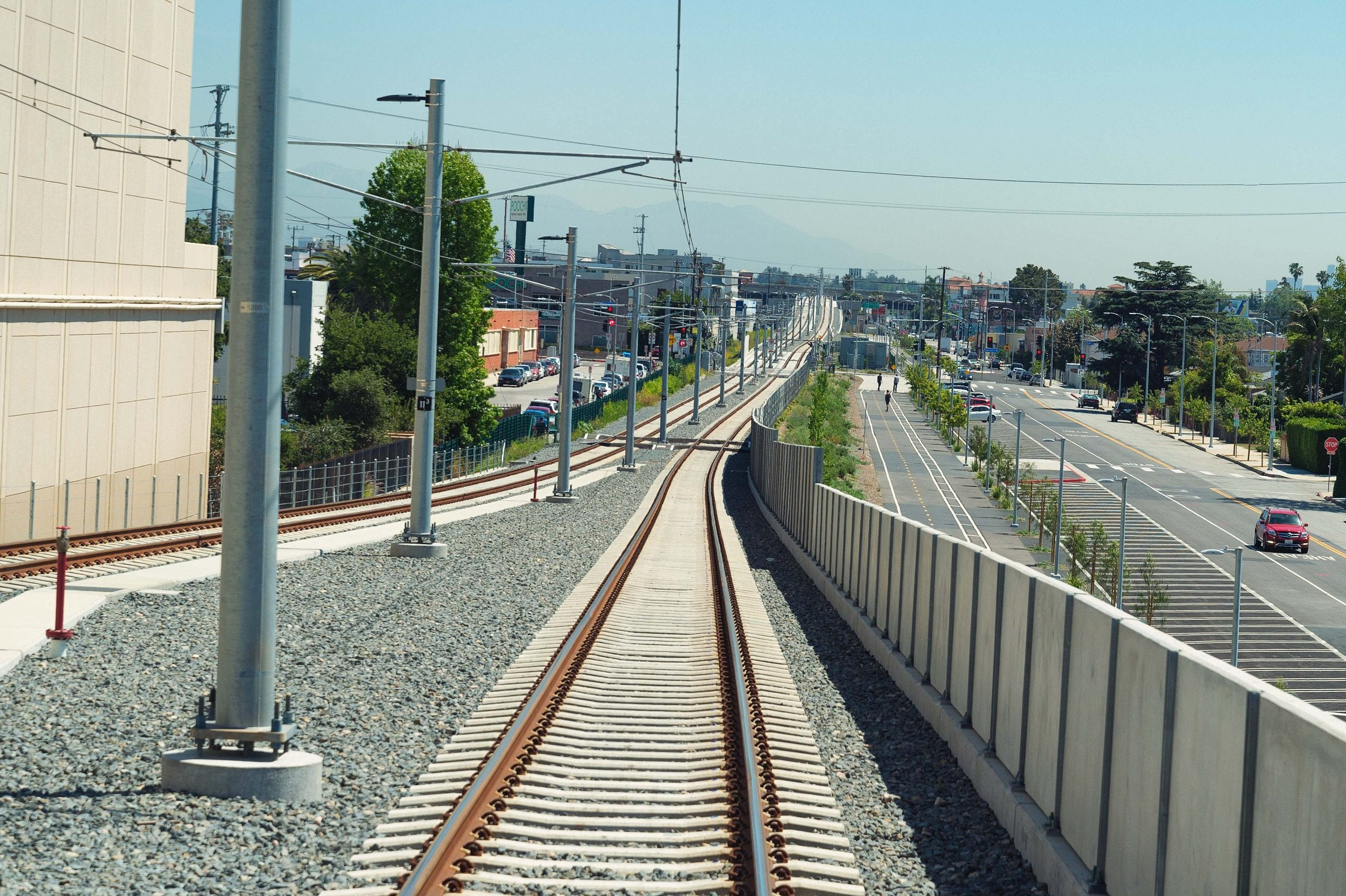 Looking west toward the 405. Photo by Steve Hymon/Metro.