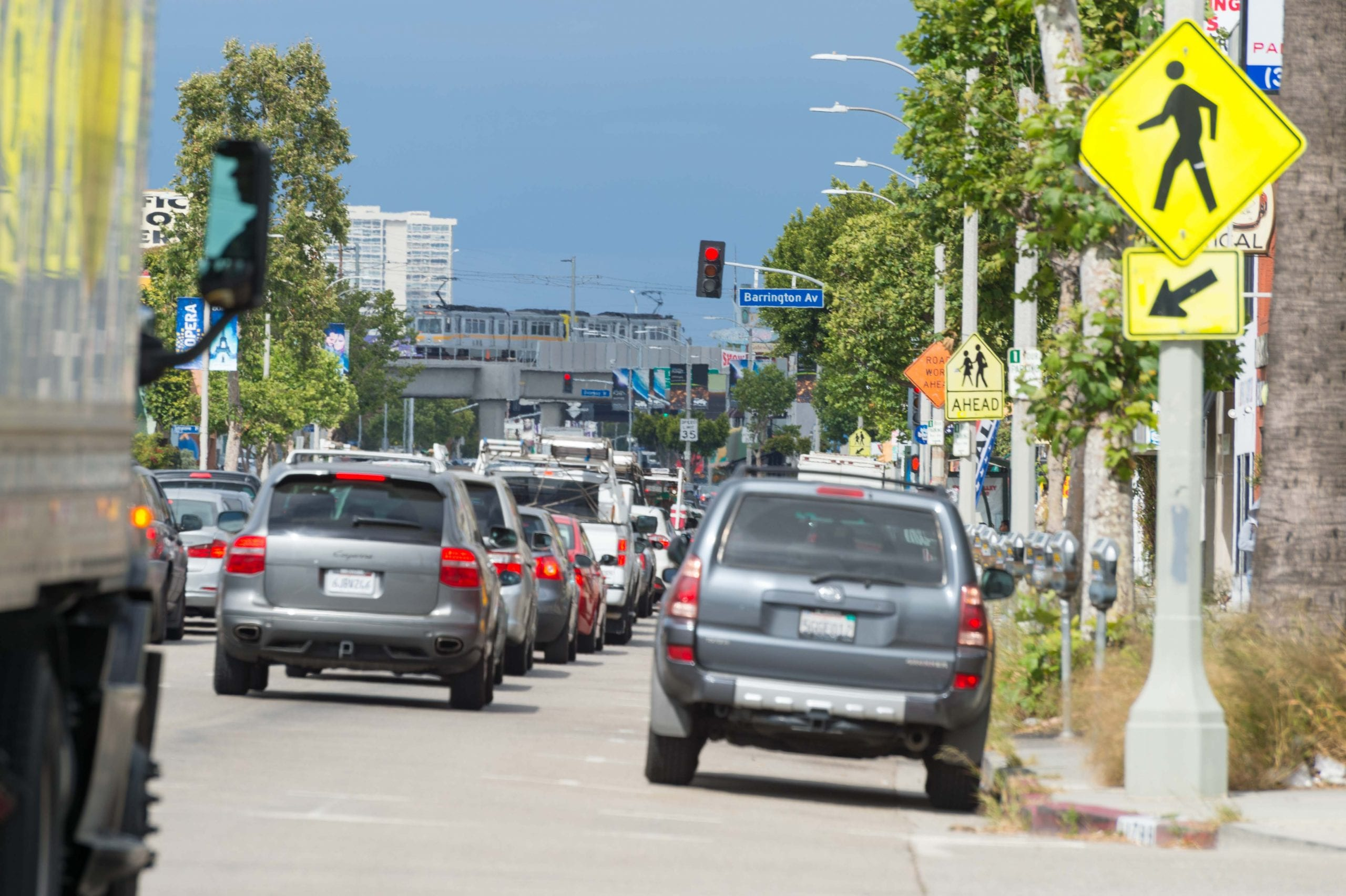 Not from the media ride. This was taken during Friday afternoon's rush hour and shows some of the lovely traffic trapped on Pico Boulevard west of the 405. Photo by Steve Hymon/Metro.