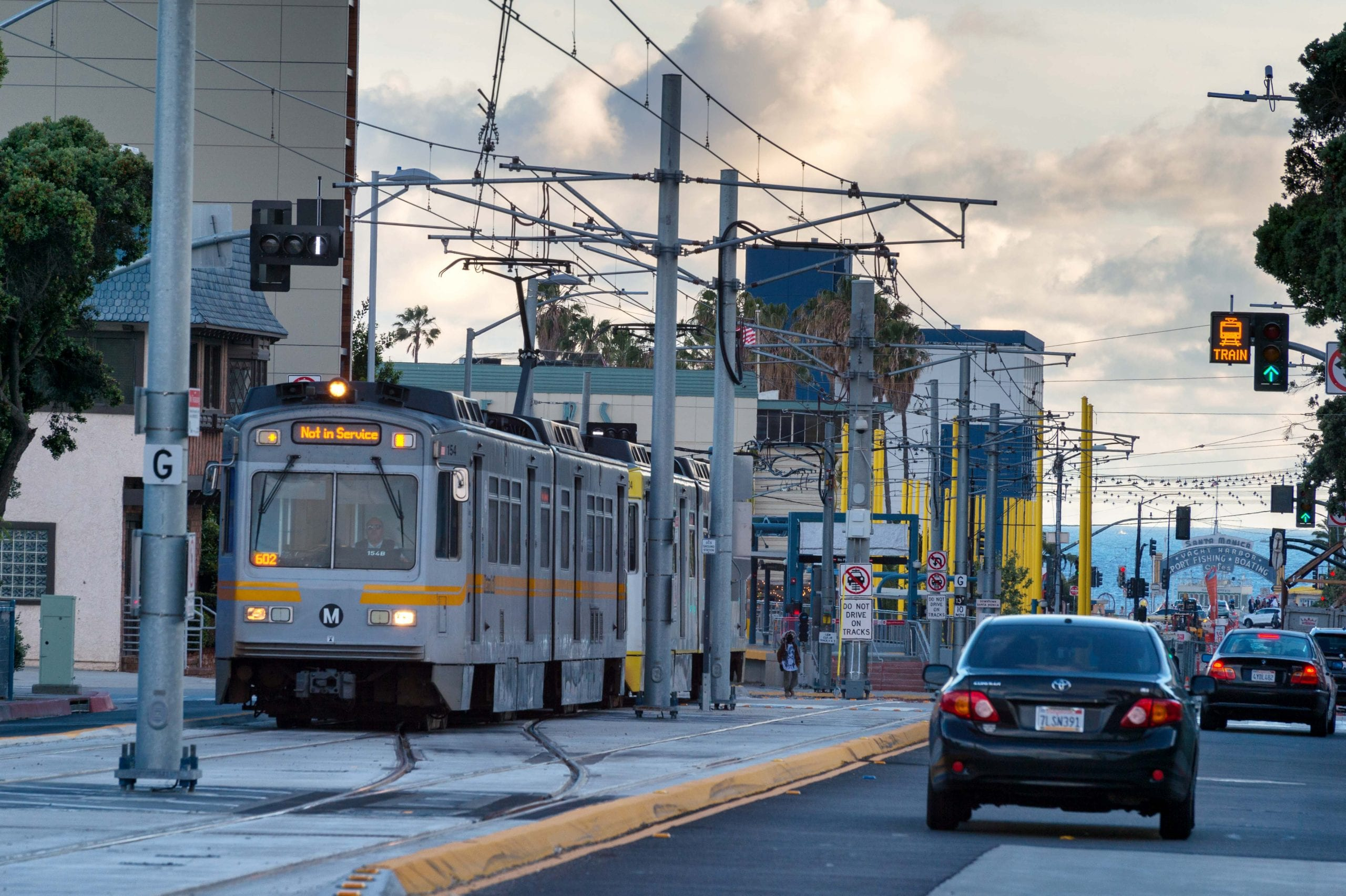 Train, meet ocean. Ocean, meet train. Photo by Steve Hymon/Metro.