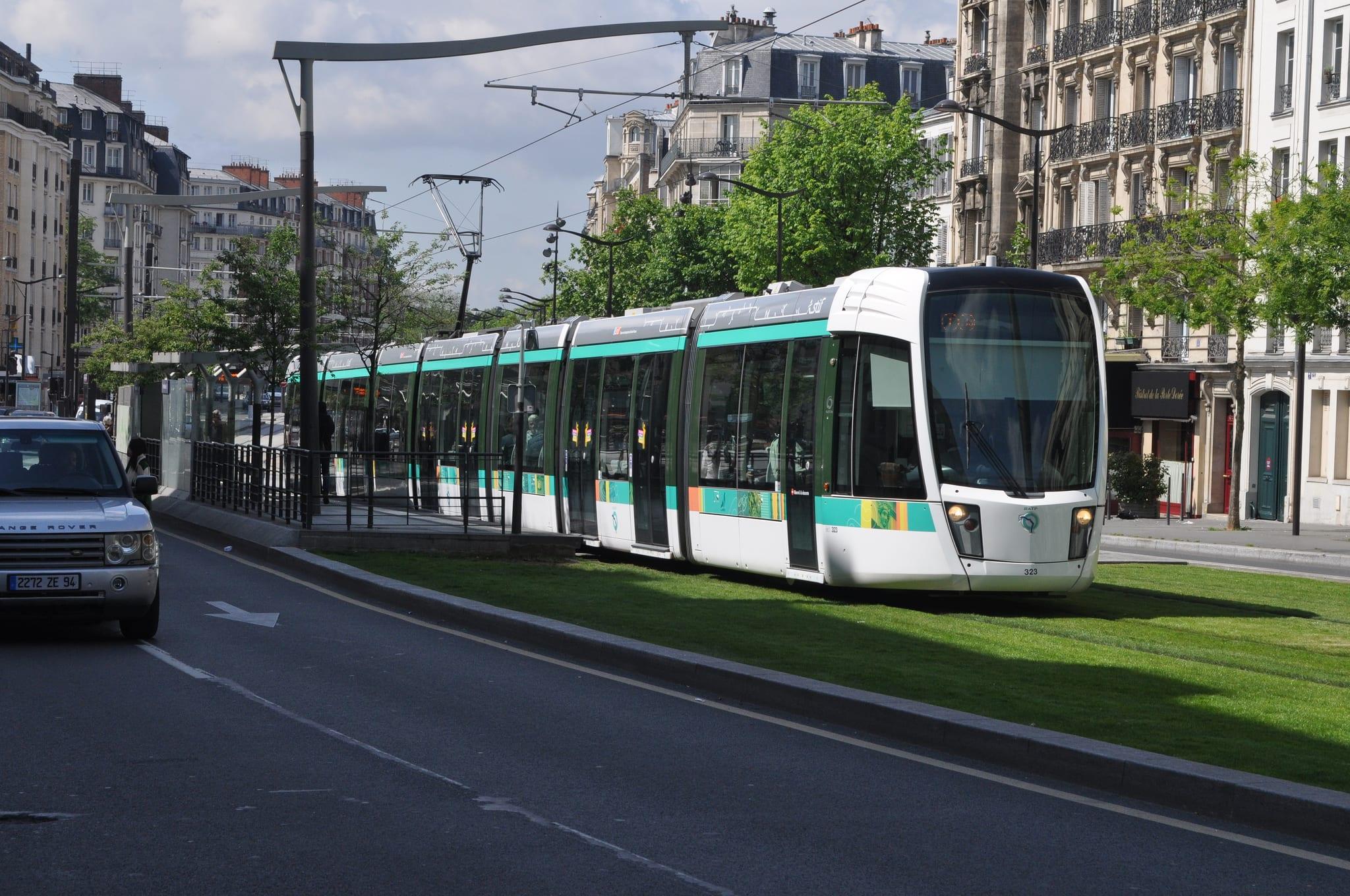 A Paris tram. Photo by Phil Beard, via Flickr creative commons.