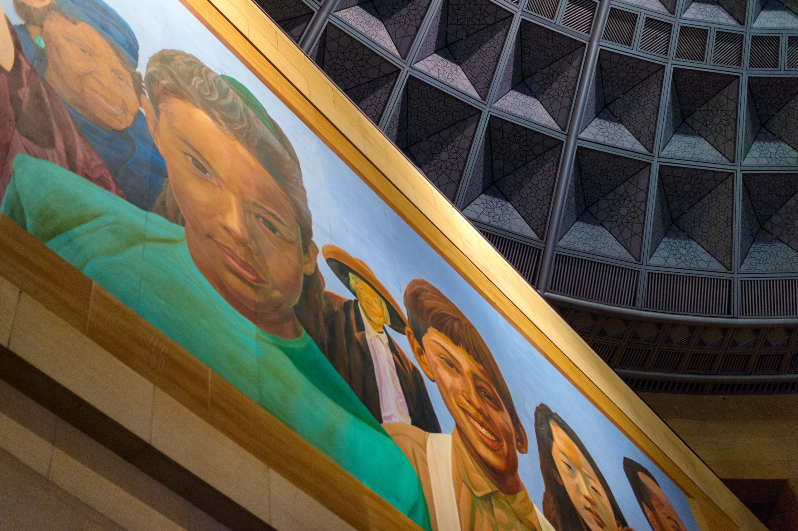 The awesome mural in Union Station's East Portal. Photo by Steve Hymon/Metro.