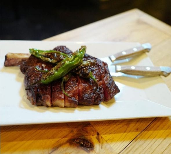 Bone-in rib eye steak from Racion instagram