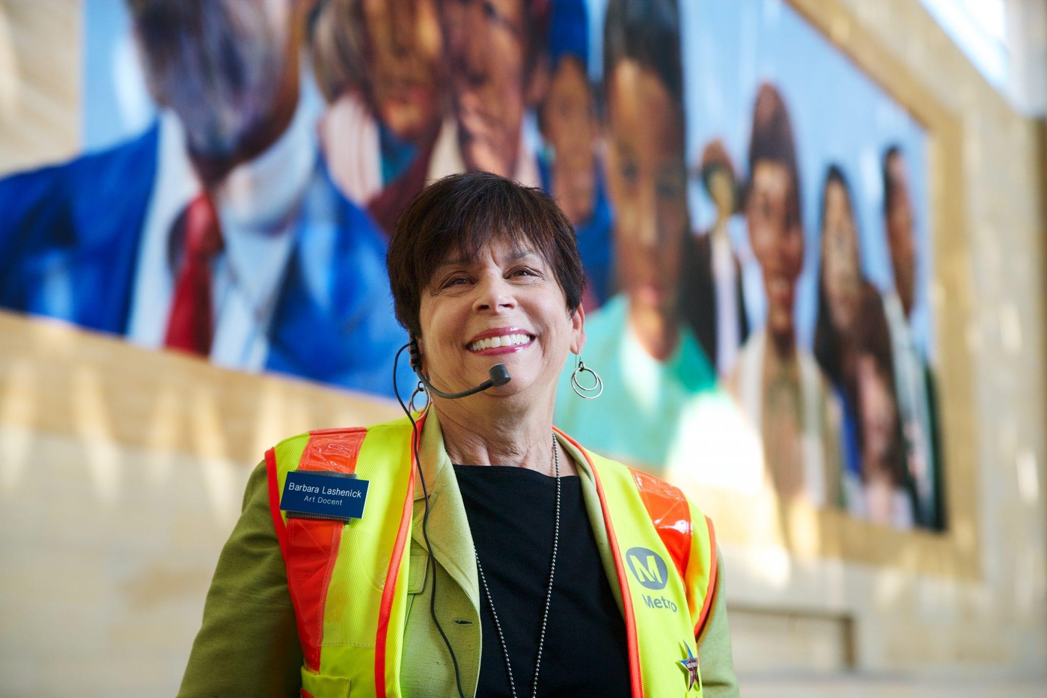 Metro Art Docent Council founder and coordinator Barbara Lashenick.