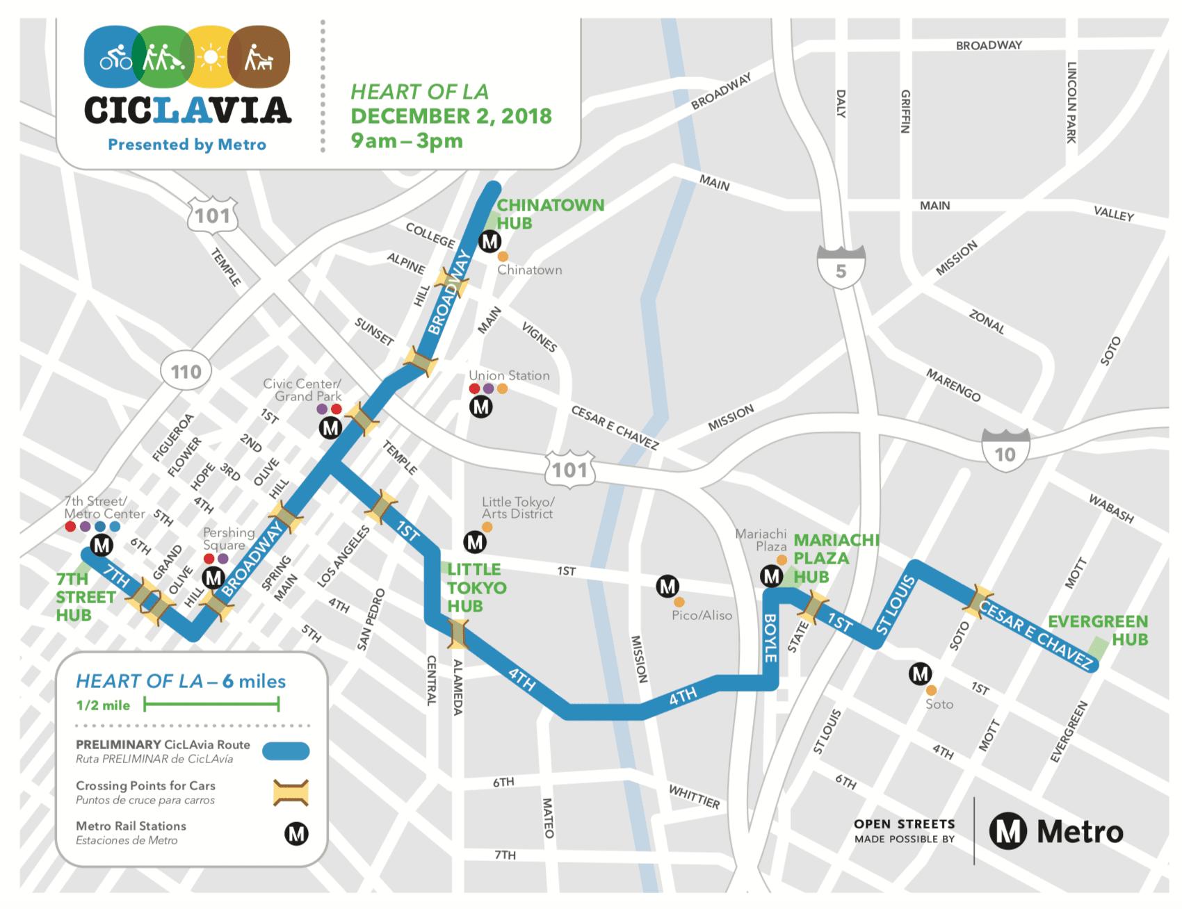 La Metro Map 2018.Go Metro To Ciclavia Heart Of La On Sunday Dec 2 The Source