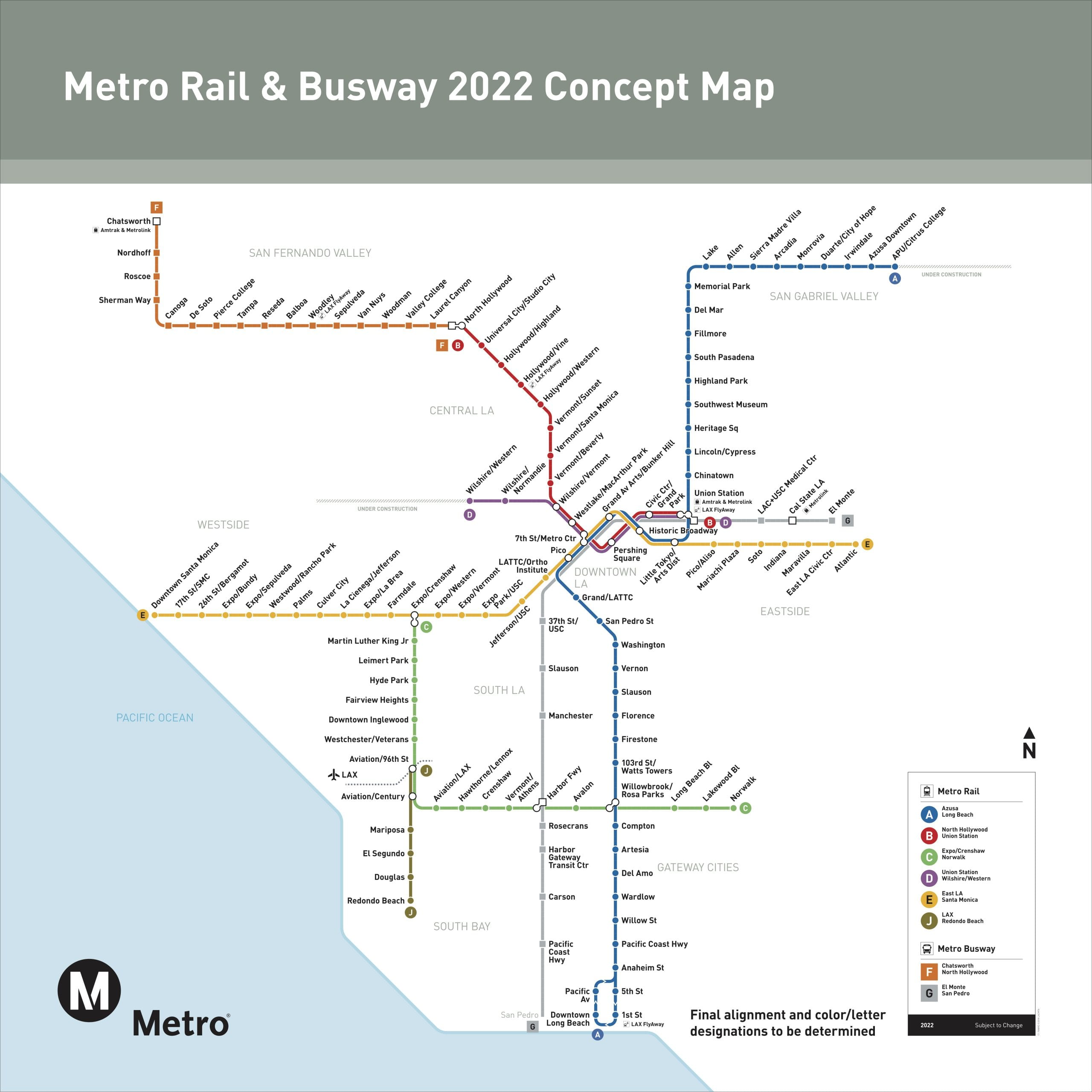 Las Angeles Underground Subway Map.Actions Taken By The Metro Board Of Directors On Thursday The Source