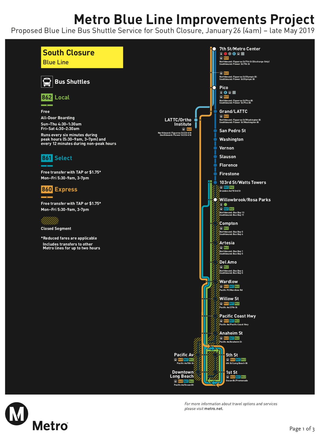 Blue Line south closure to begin Saturday, Jan  26 - The Source