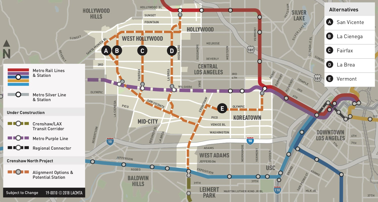 La Subway Map Red Line.Metro To Hold Four Community Meetings To Evaluate Routes For